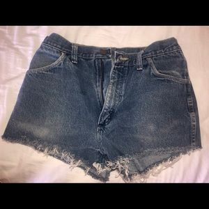 Rustler denim shorts.